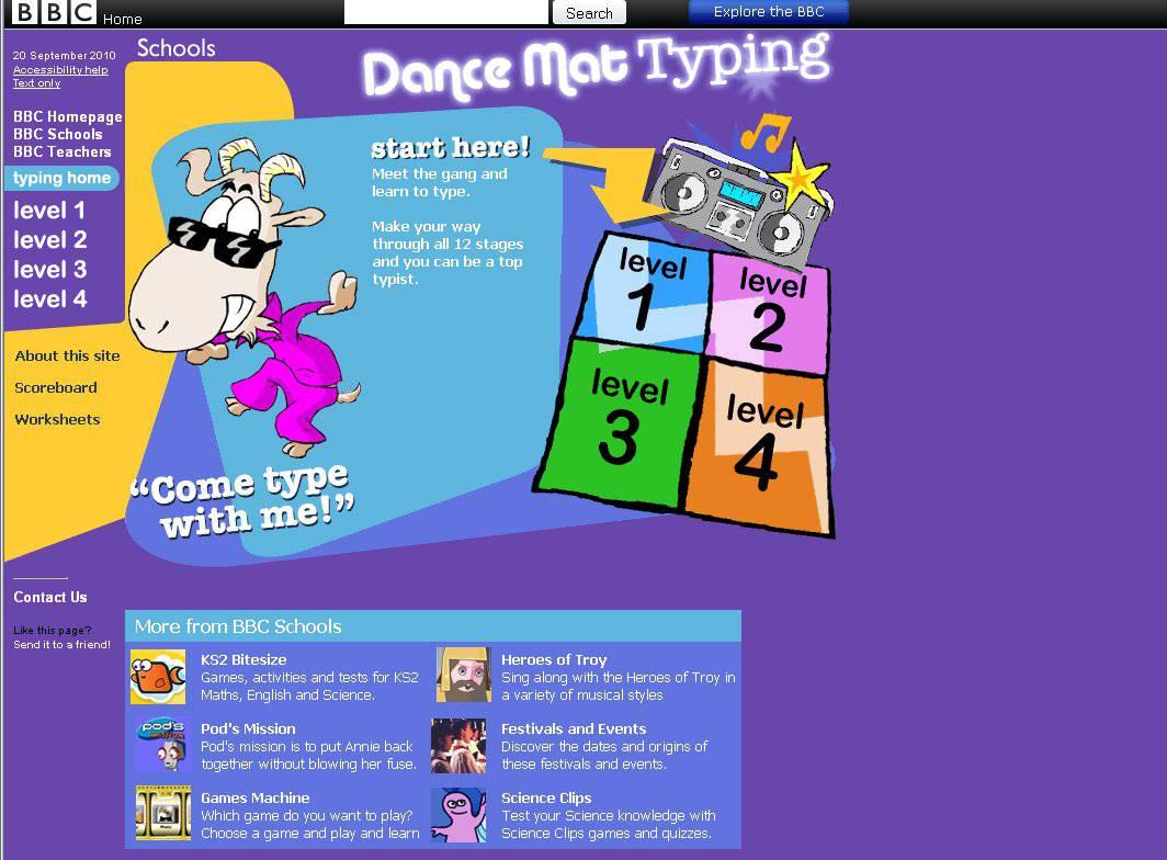 Dance Mat Typing