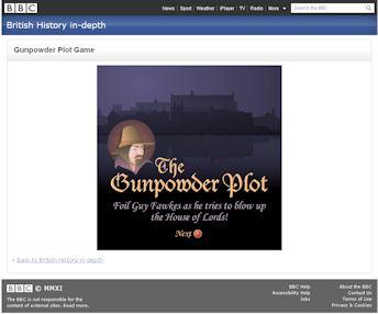 Gunpowder Plot Game